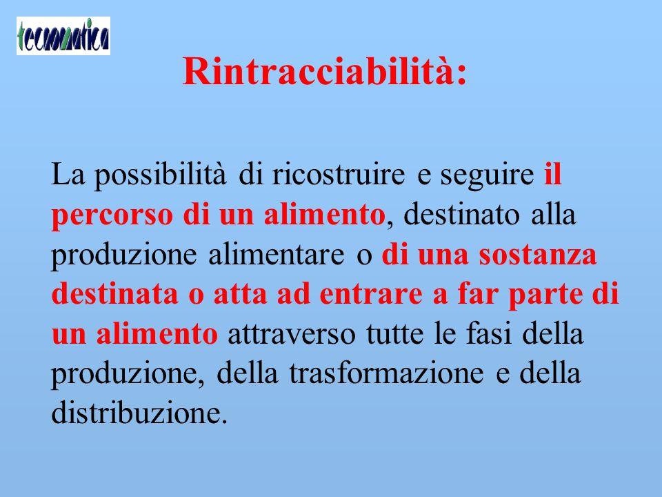 Rintracciabilità: