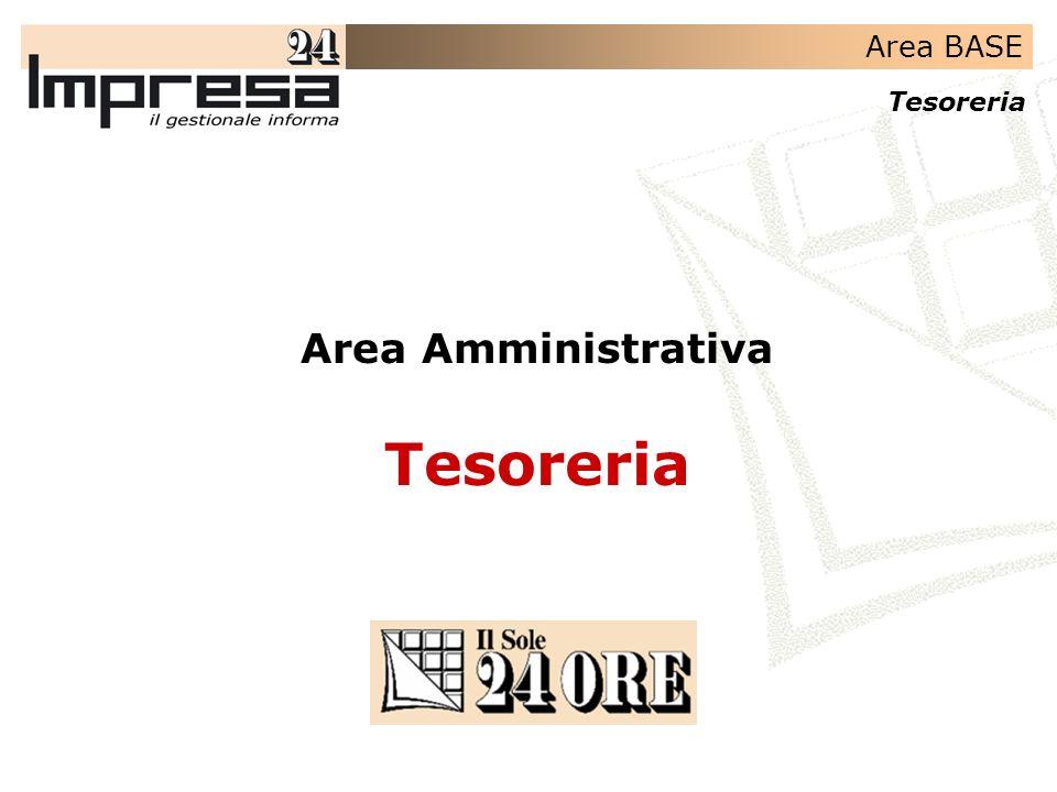 Area Amministrativa Tesoreria