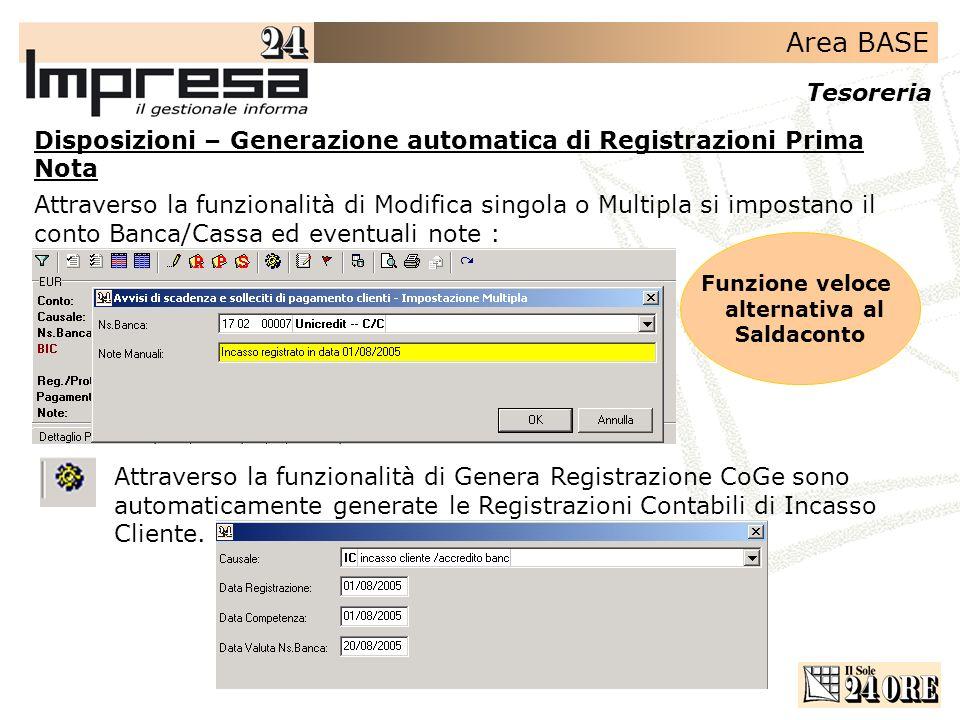Disposizioni – Generazione automatica di Registrazioni Prima Nota