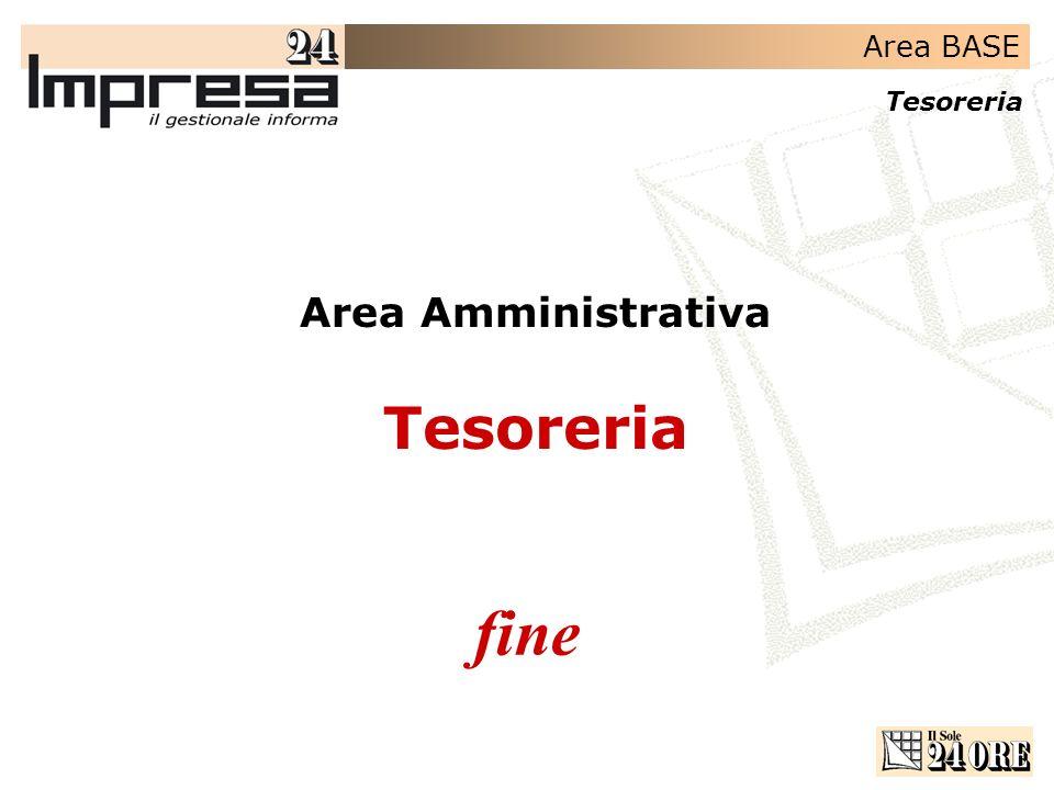 Area Amministrativa Tesoreria fine