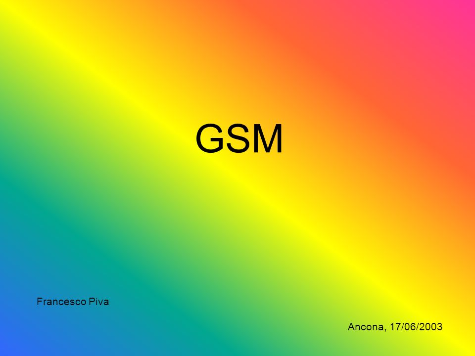 GSM Francesco Piva Ancona, 17/06/2003