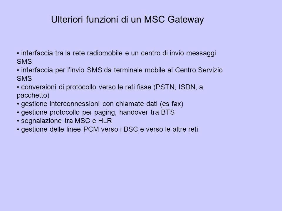 Ulteriori funzioni di un MSC Gateway