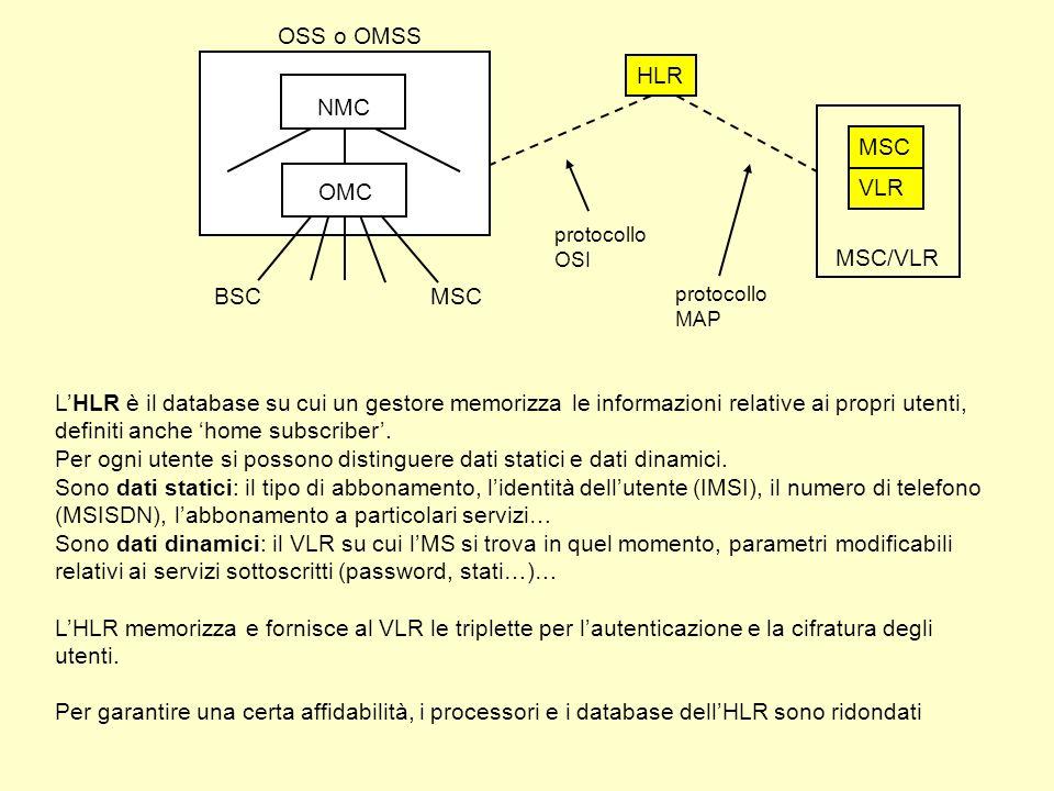 Per ogni utente si possono distinguere dati statici e dati dinamici.