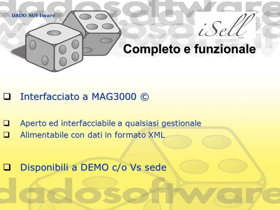 Completo e funzionale Interfacciato a MAG3000 ©