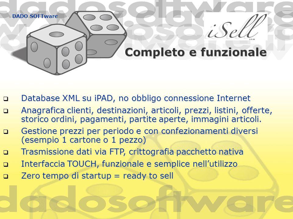 DADO SOFTware Completo e funzionale. Database XML su iPAD, no obbligo connessione Internet.
