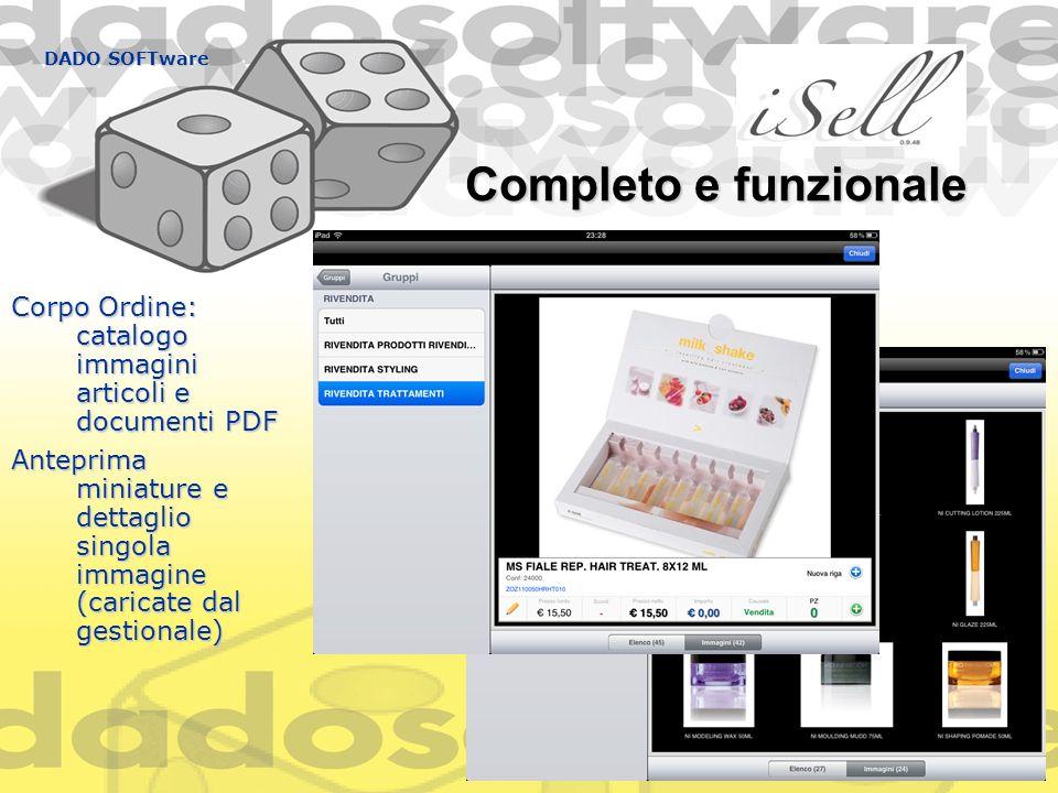 DADO SOFTware Completo e funzionale. Corpo Ordine: catalogo immagini articoli e documenti PDF.
