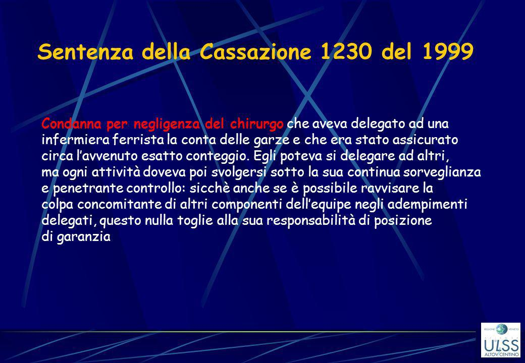 Sentenza della Cassazione 1230 del 1999