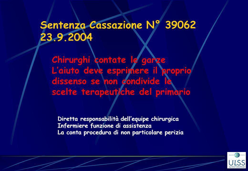 Sentenza Cassazione N° 39062 23.9.2004