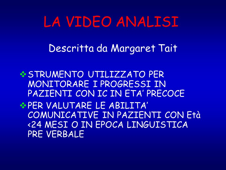 Descritta da Margaret Tait