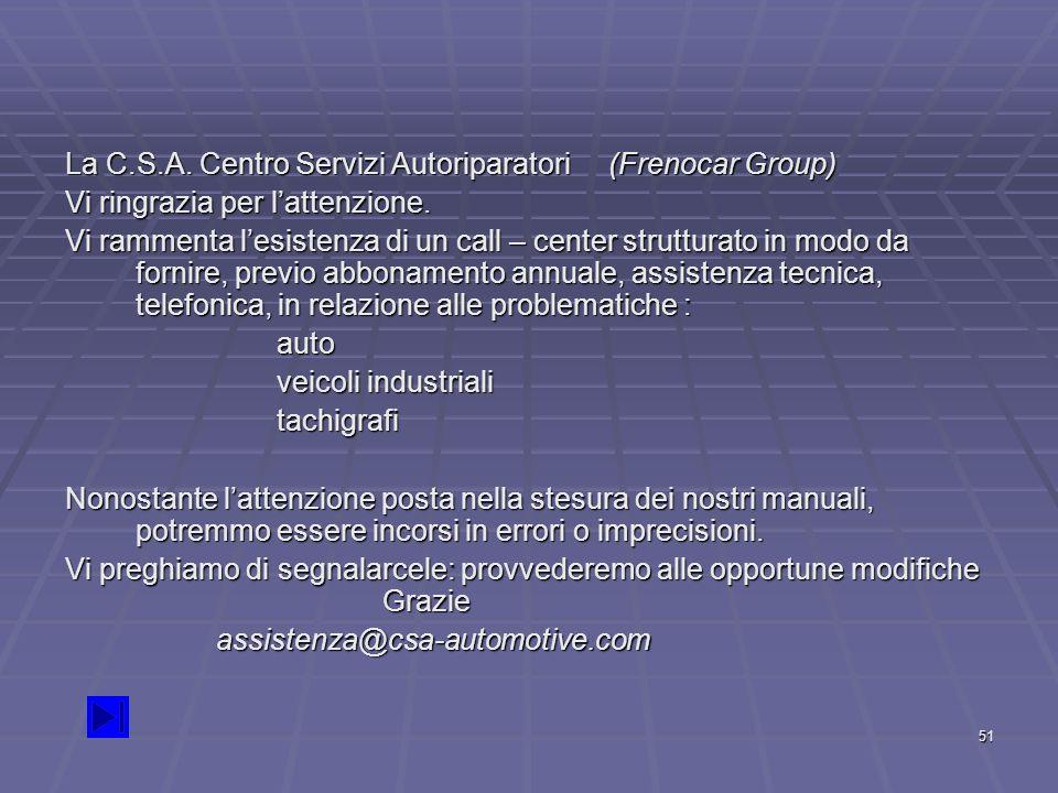 La C.S.A. Centro Servizi Autoriparatori (Frenocar Group)