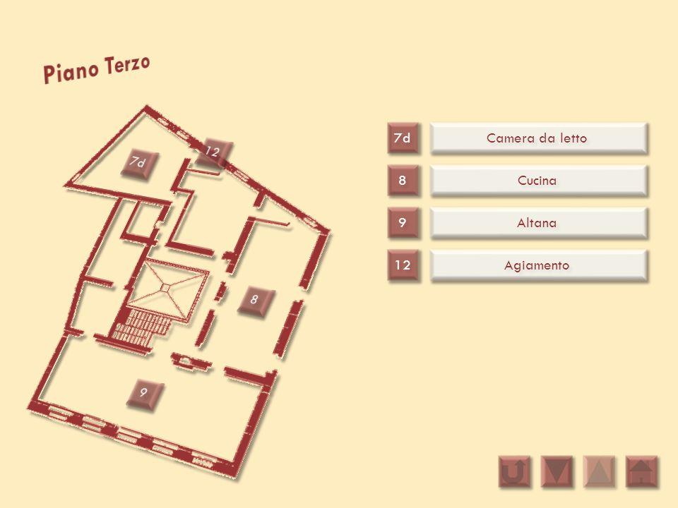 Piano Terzo 7d Camera da letto 12 7d 8 Cucina 9 Altana 12 Agiamento 8