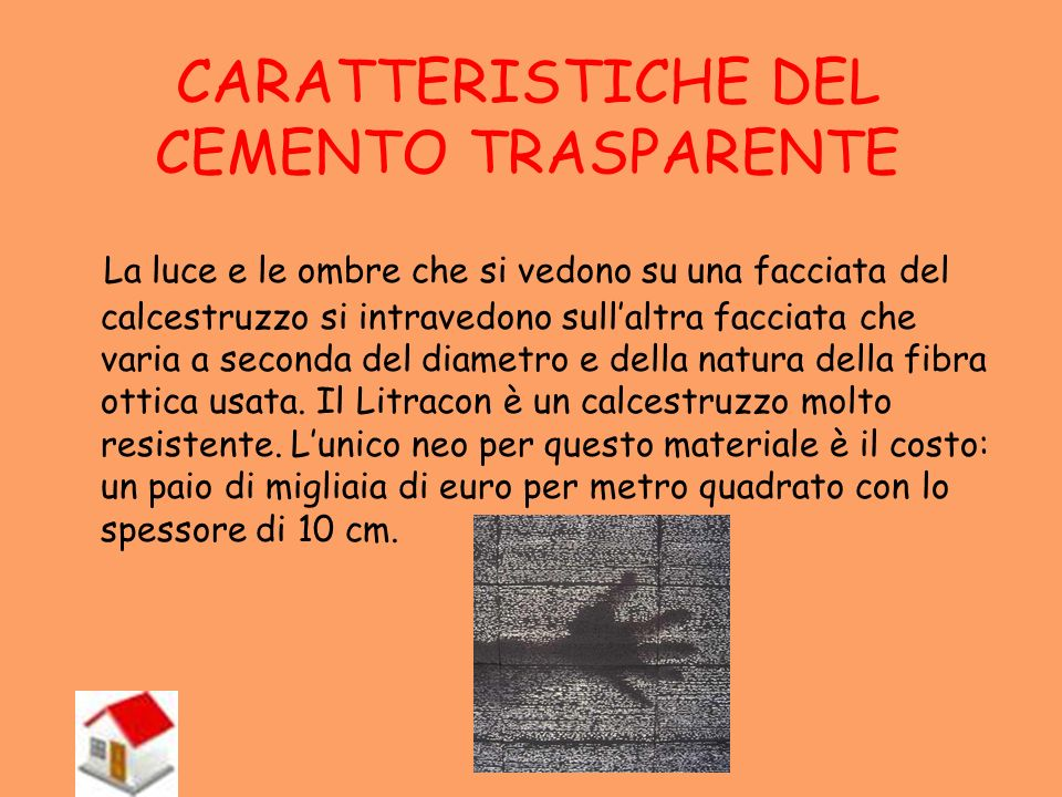CARATTERISTICHE DEL CEMENTO TRASPARENTE
