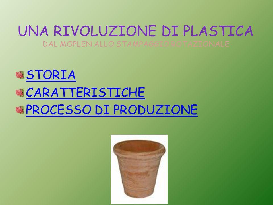 UNA RIVOLUZIONE DI PLASTICA DAL MOPLEN ALLO STAMPAGGIO ROTAZIONALE