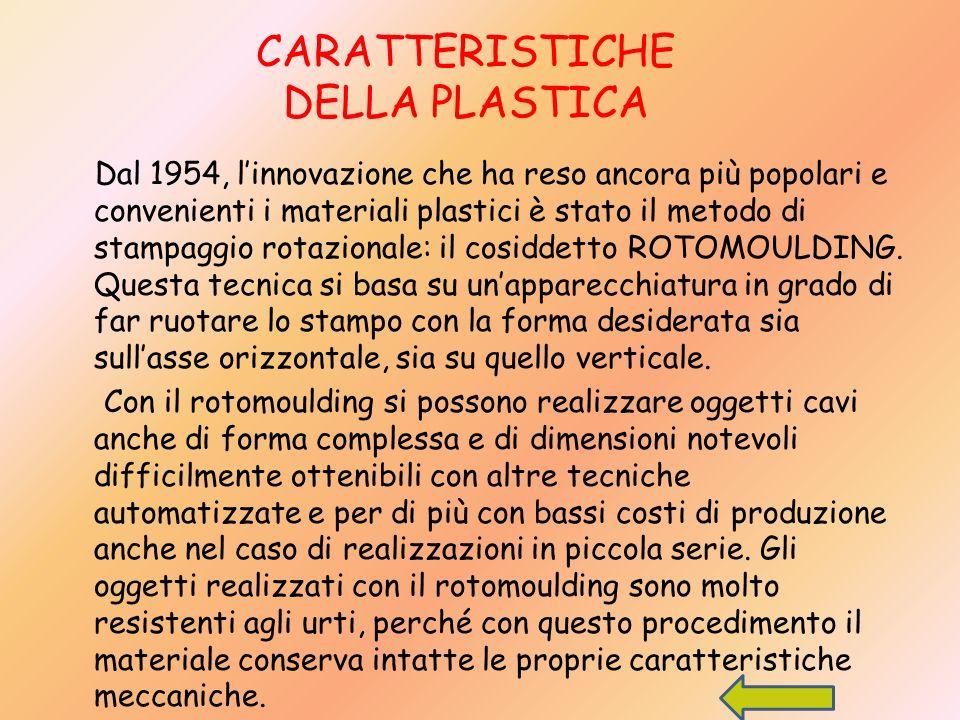 CARATTERISTICHE DELLA PLASTICA