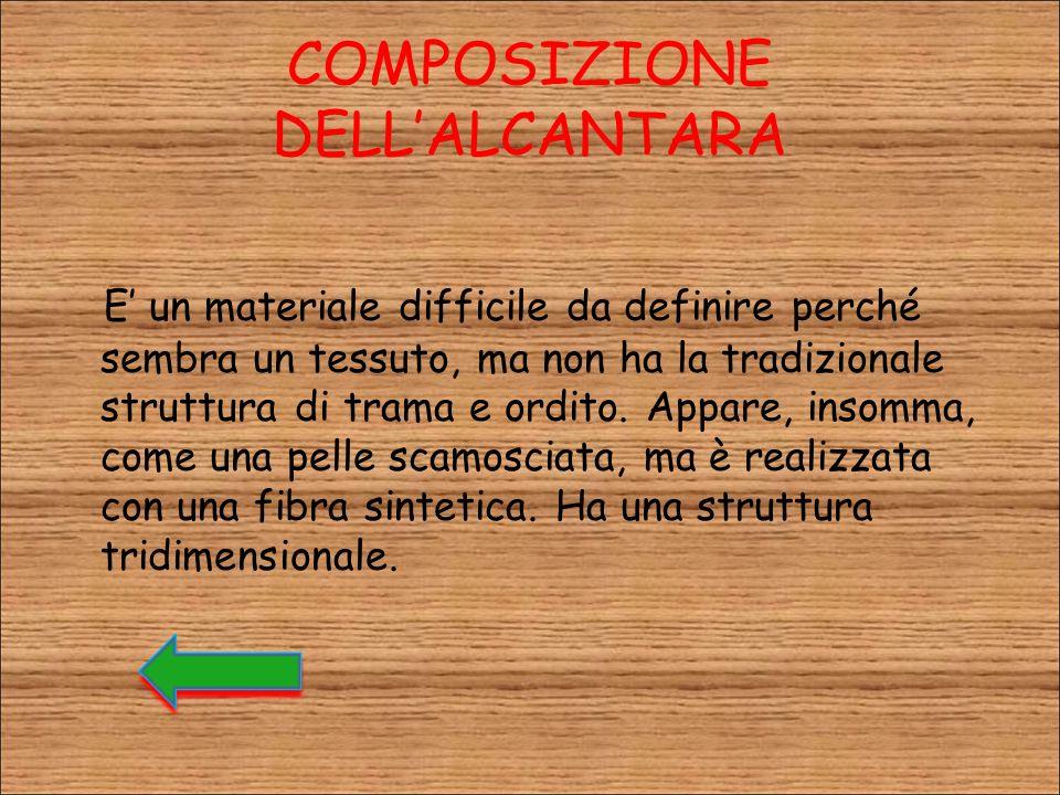 COMPOSIZIONE DELL'ALCANTARA