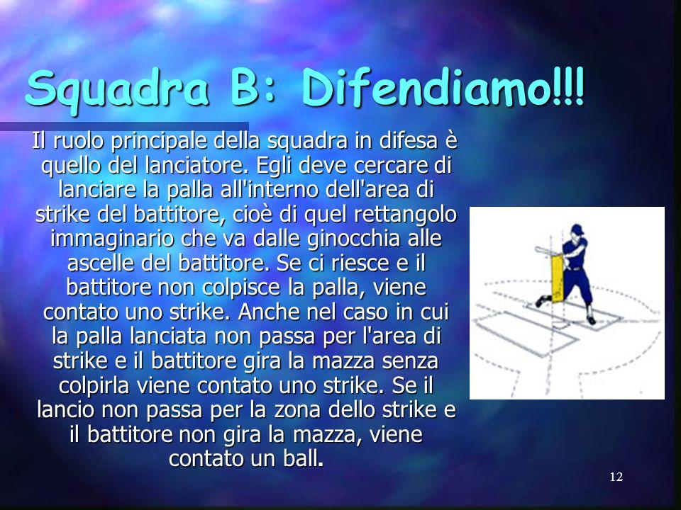Squadra B: Difendiamo!!!