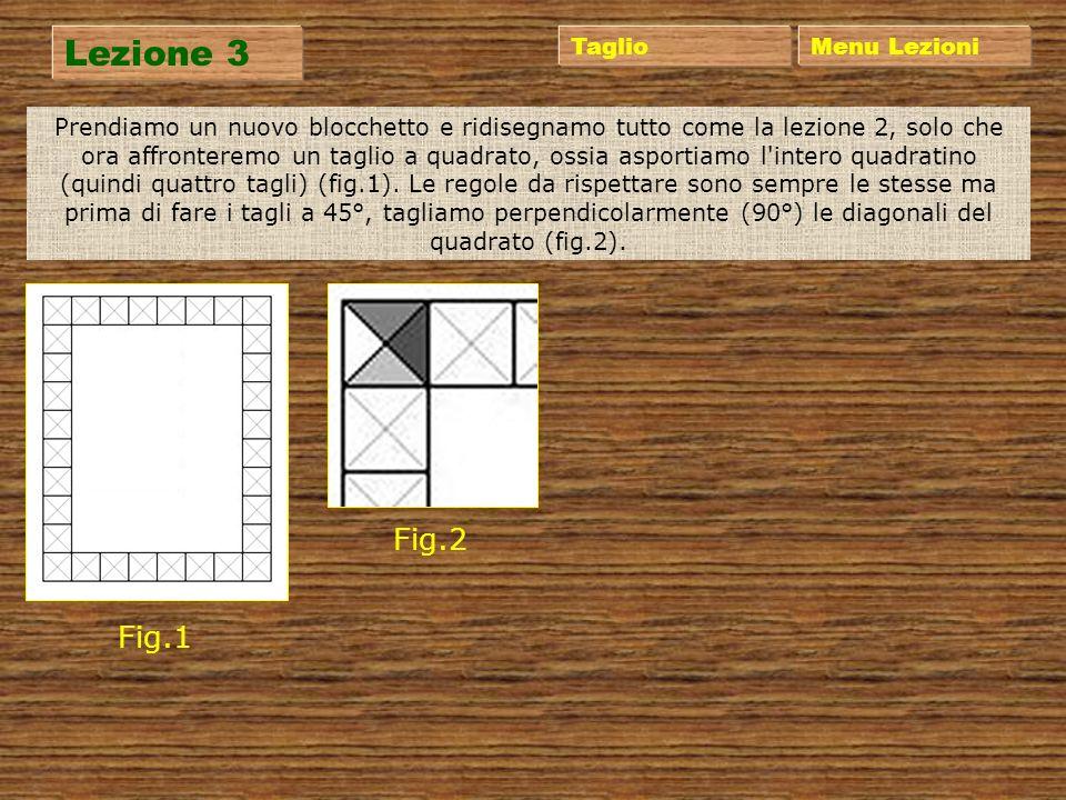 Lezione 3 Fig.2 Fig.1 Taglio Menu Lezioni