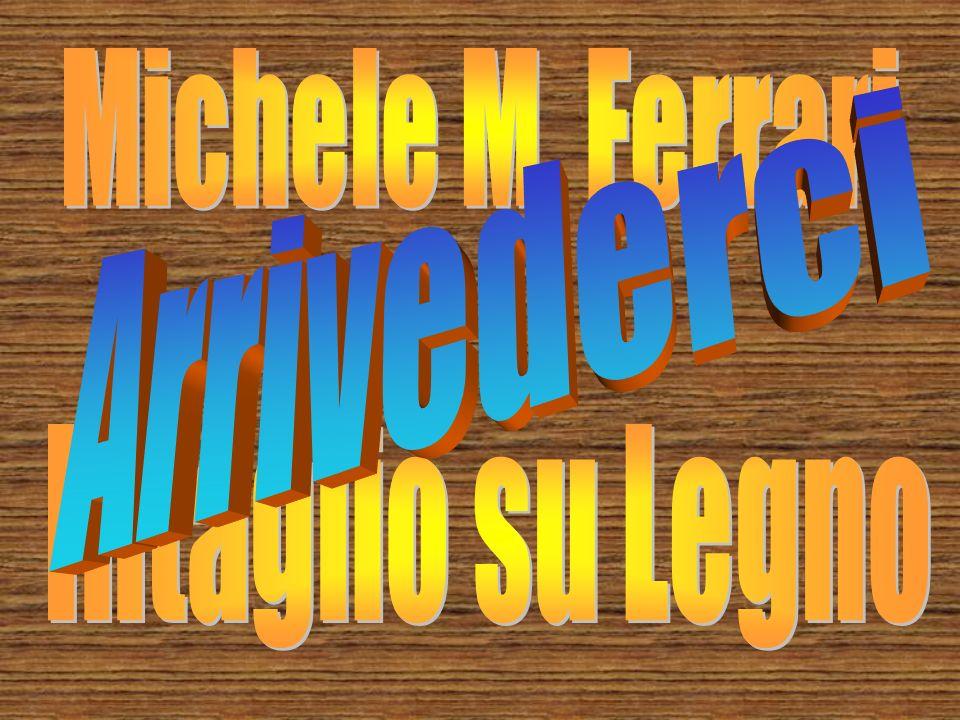 Michele M. Ferrari Arrivederci Intaglio su Legno