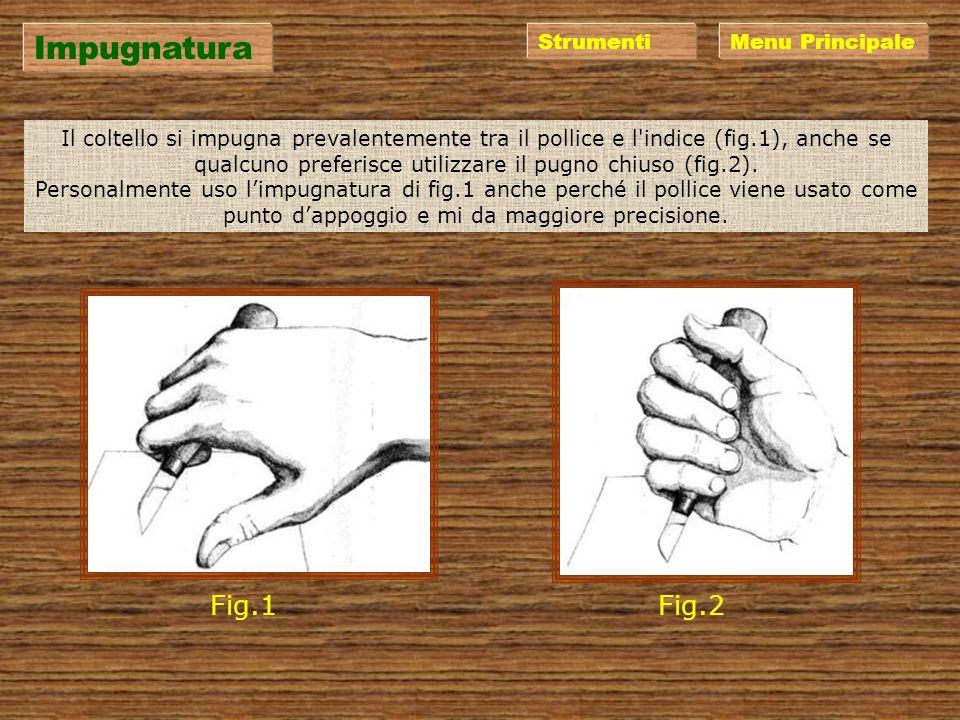 Impugnatura Fig.1 Fig.2 Strumenti Menu Principale