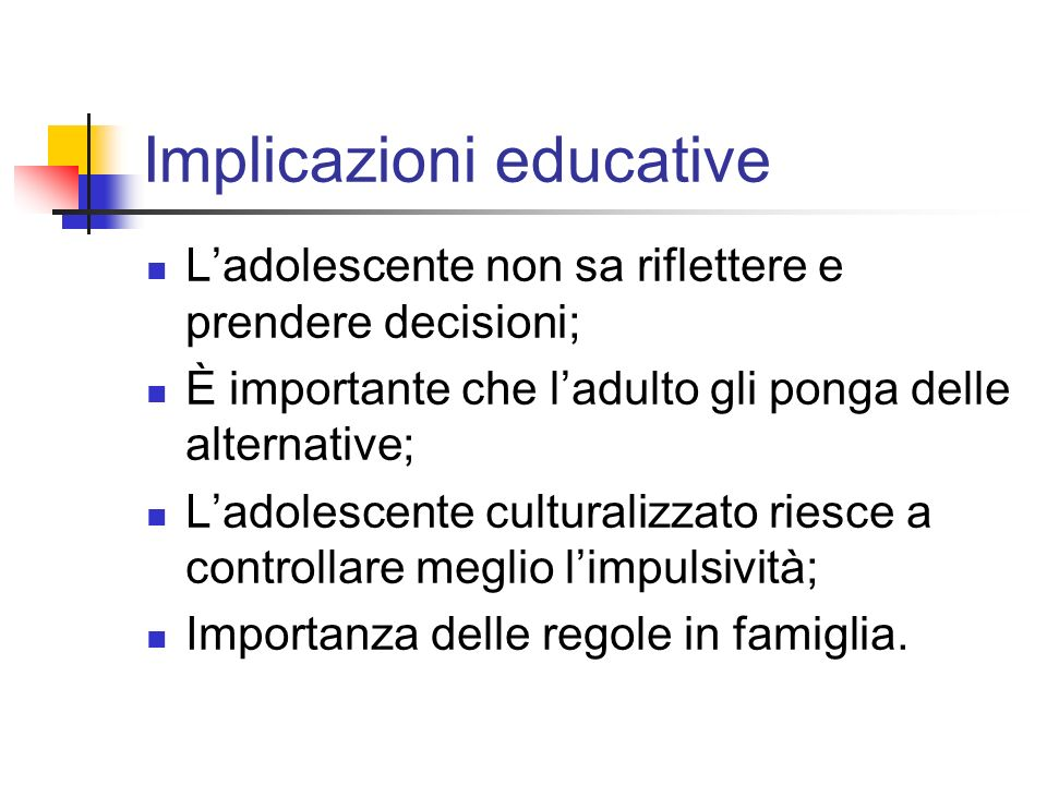 Implicazioni educative