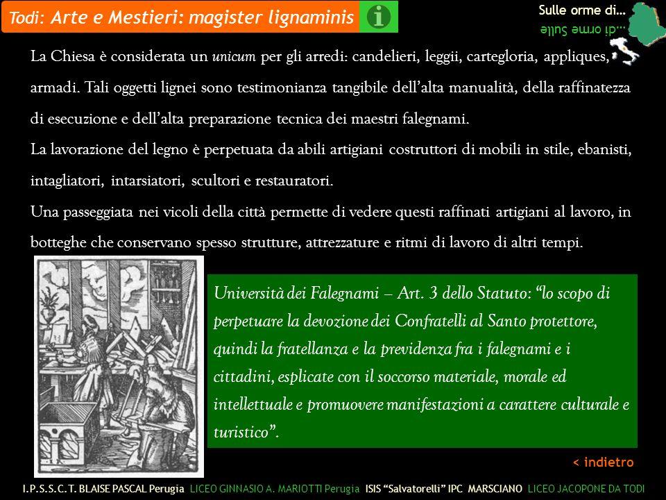 Todi: Arte e Mestieri: magister lignaminis