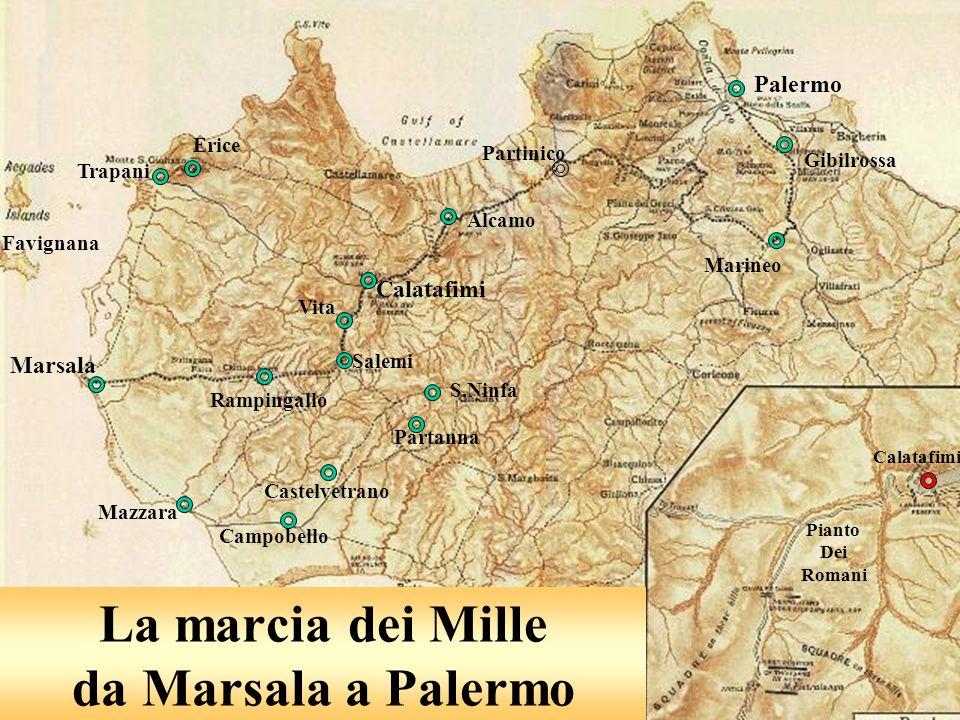 La marcia dei Mille da Marsala a Palermo