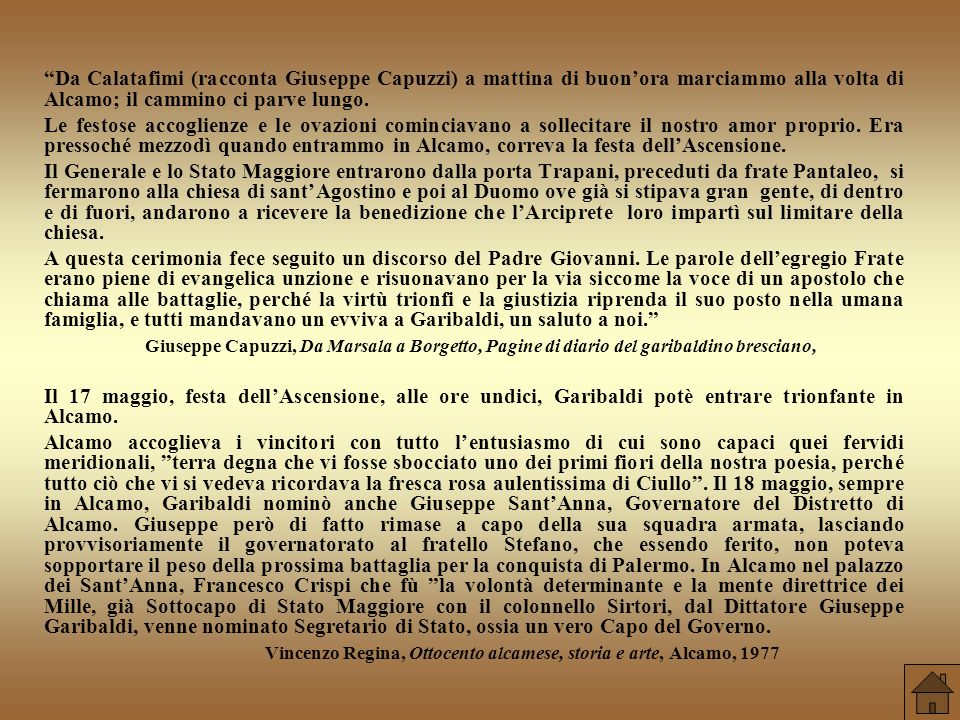 Vincenzo Regina, Ottocento alcamese, storia e arte, Alcamo, 1977