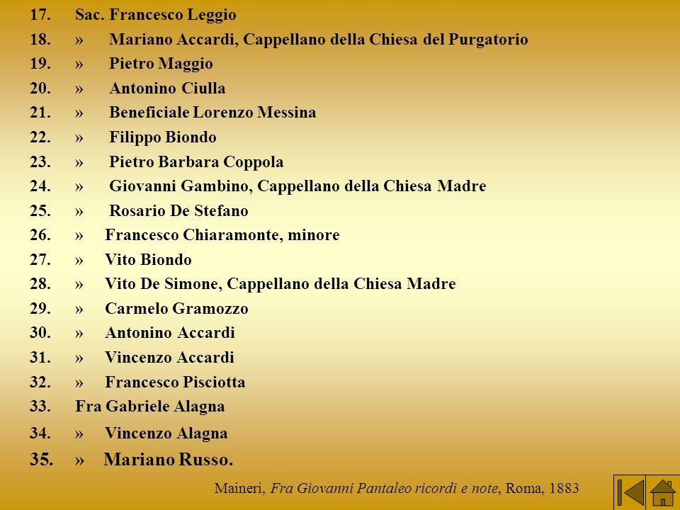 Maineri, Fra Giovanni Pantaleo ricordi e note, Roma, 1883