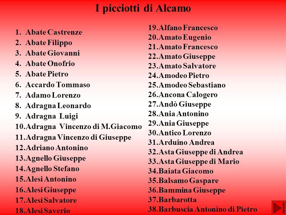 I picciotti di Alcamo 19.Alfano Francesco 20.Amato Eugenio