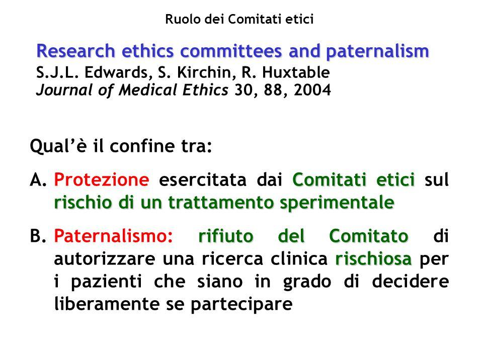 Ruolo dei Comitati etici