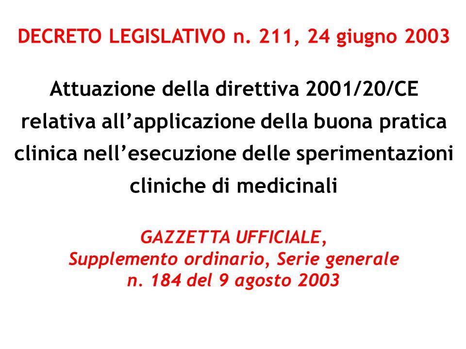 DECRETO LEGISLATIVO n. 211, 24 giugno 2003