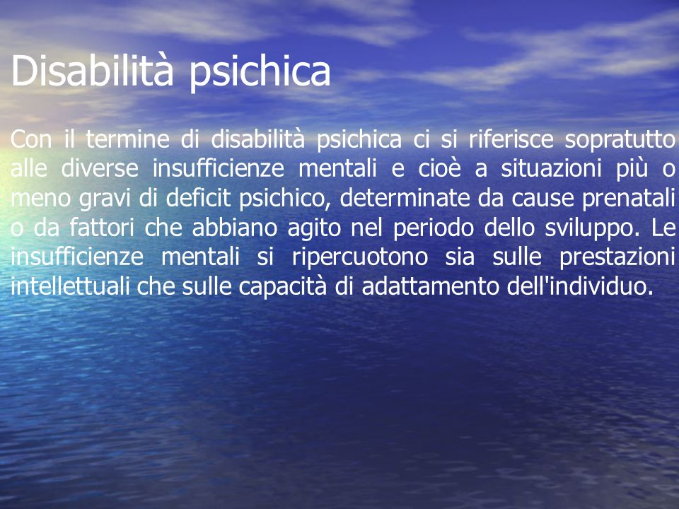 Disabilità psichica