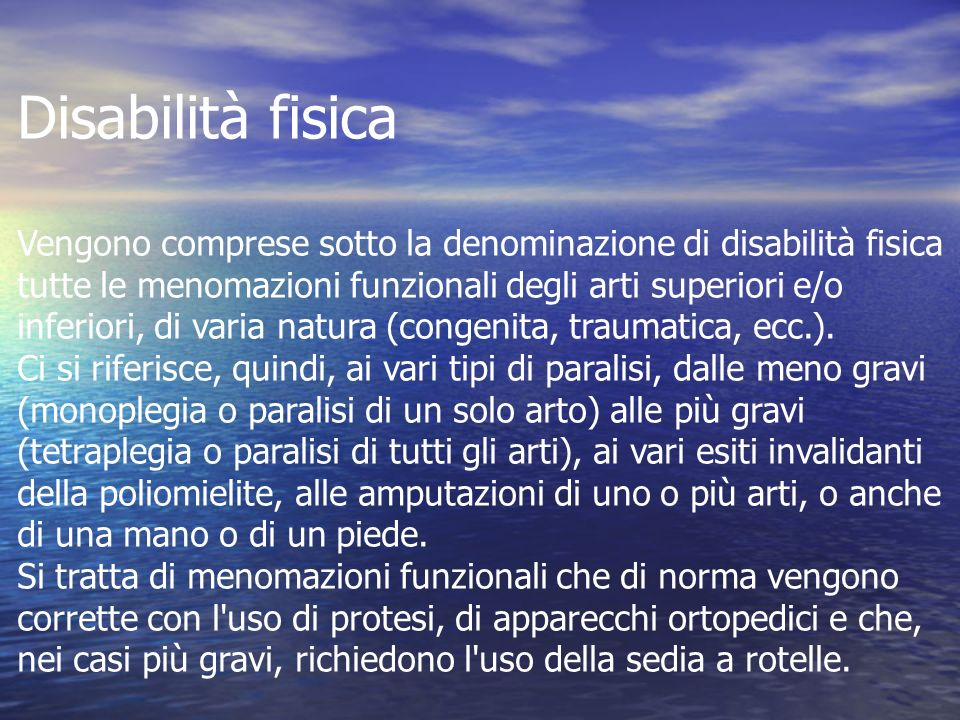 Disabilità fisica