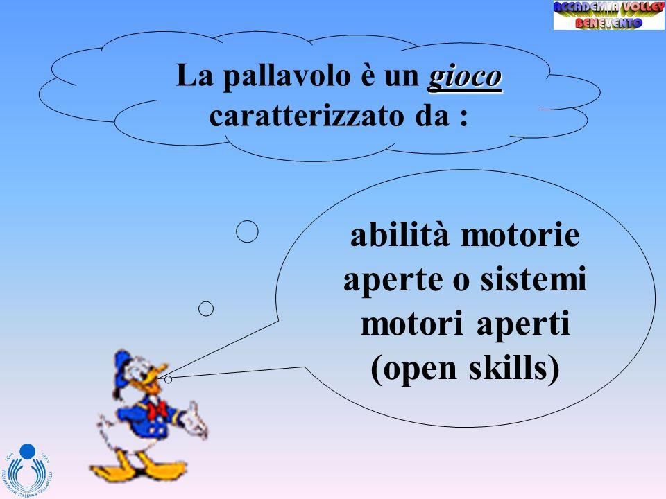 abilità motorie aperte o sistemi motori aperti (open skills)