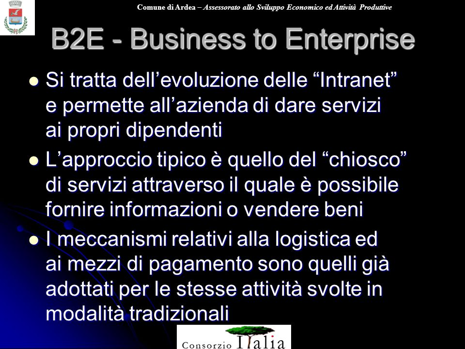 B2E - Business to Enterprise