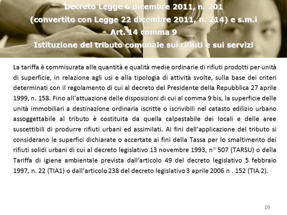 Decreto Legge 6 dicembre 2011, n. 201