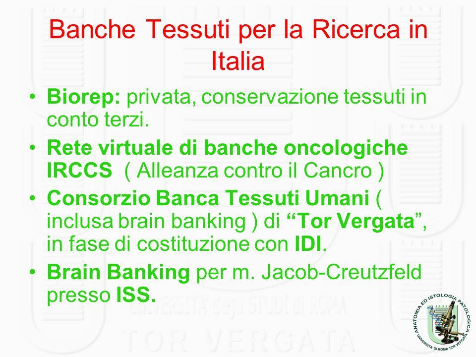 Banche Tessuti per la Ricerca in Italia