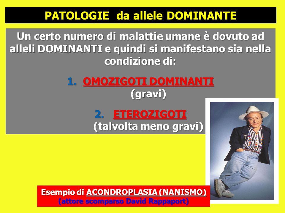 PATOLOGIE da allele DOMINANTE