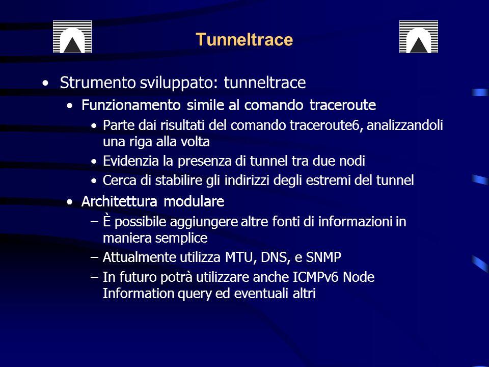 Tunneltrace Strumento sviluppato: tunneltrace