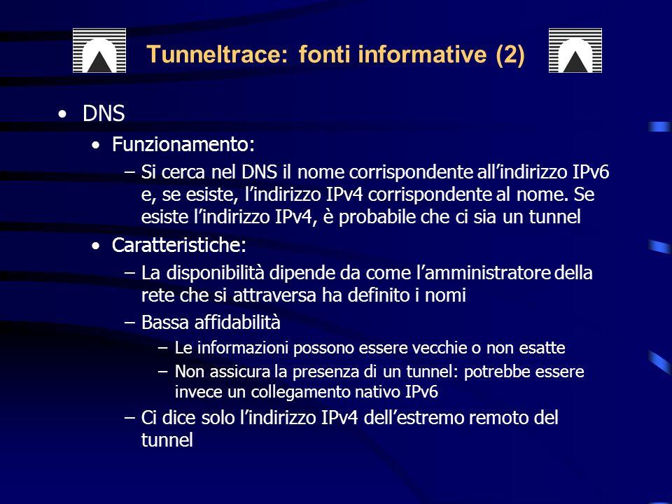 Tunneltrace: fonti informative (2)