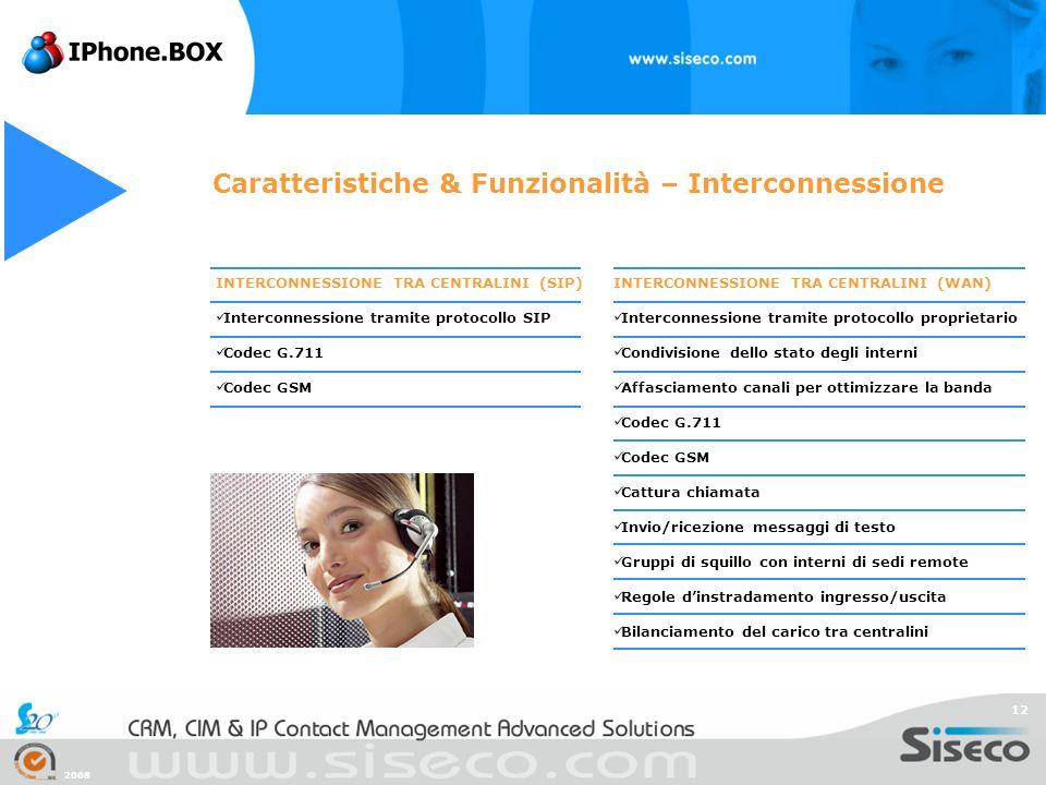 Caratteristiche & Funzionalità – Interconnessione