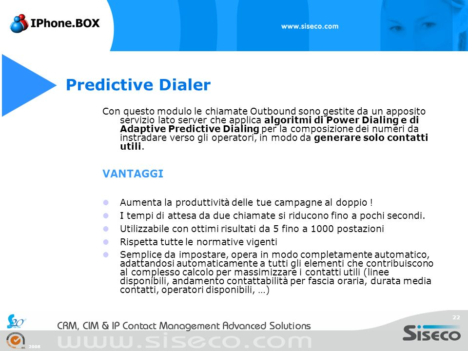 Predictive Dialer VANTAGGI