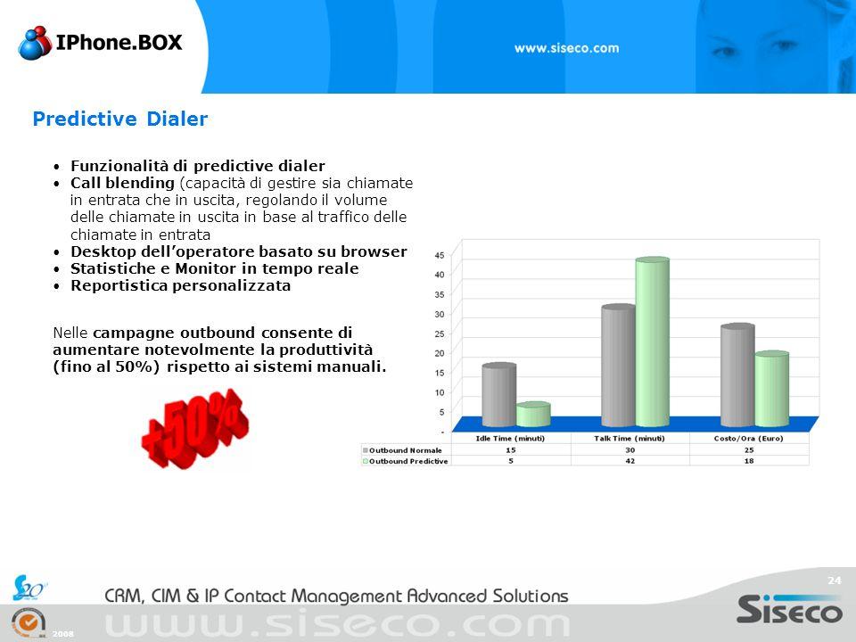 Predictive Dialer Funzionalità di predictive dialer