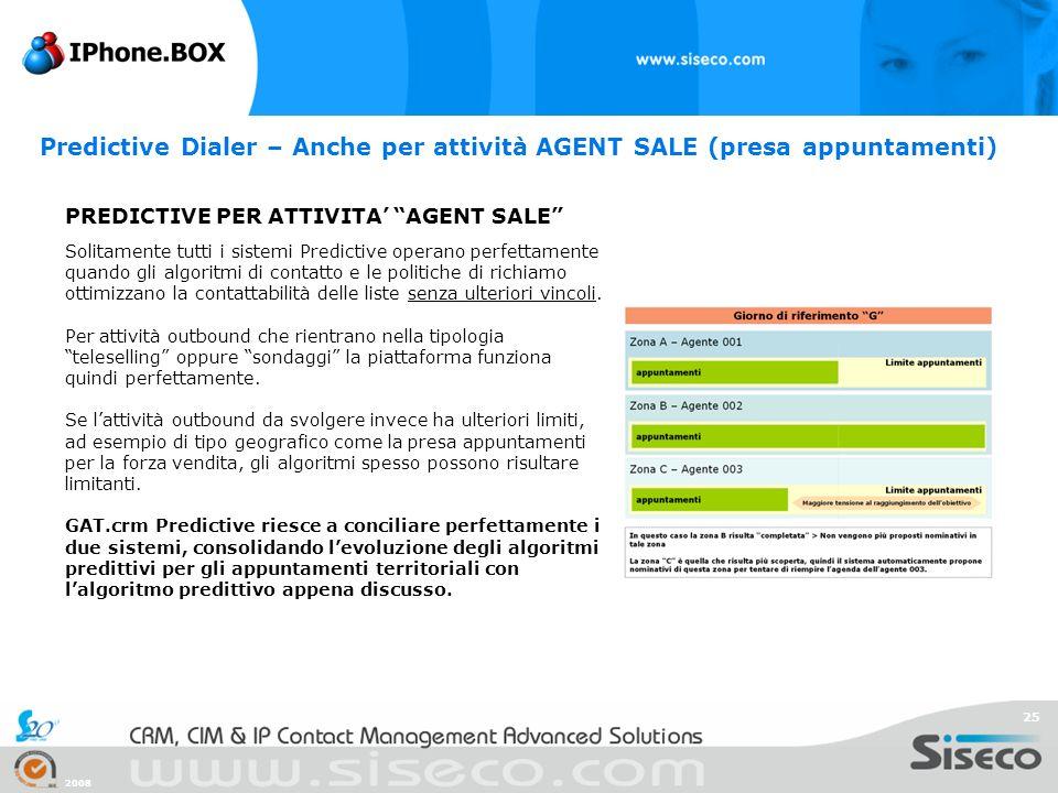 Predictive Dialer – Anche per attività AGENT SALE (presa appuntamenti)