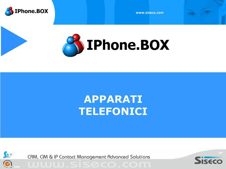 APPARATI TELEFONICI 2008