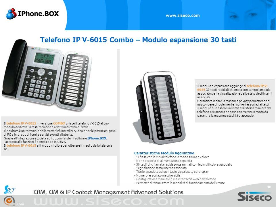 Telefono IP V-6015 Combo – Modulo espansione 30 tasti