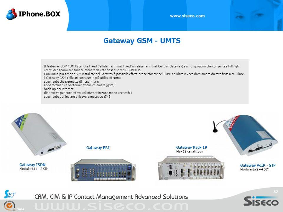 Gateway GSM - UMTS Gateway PRI Gateway Rack 19 Gateway ISDN