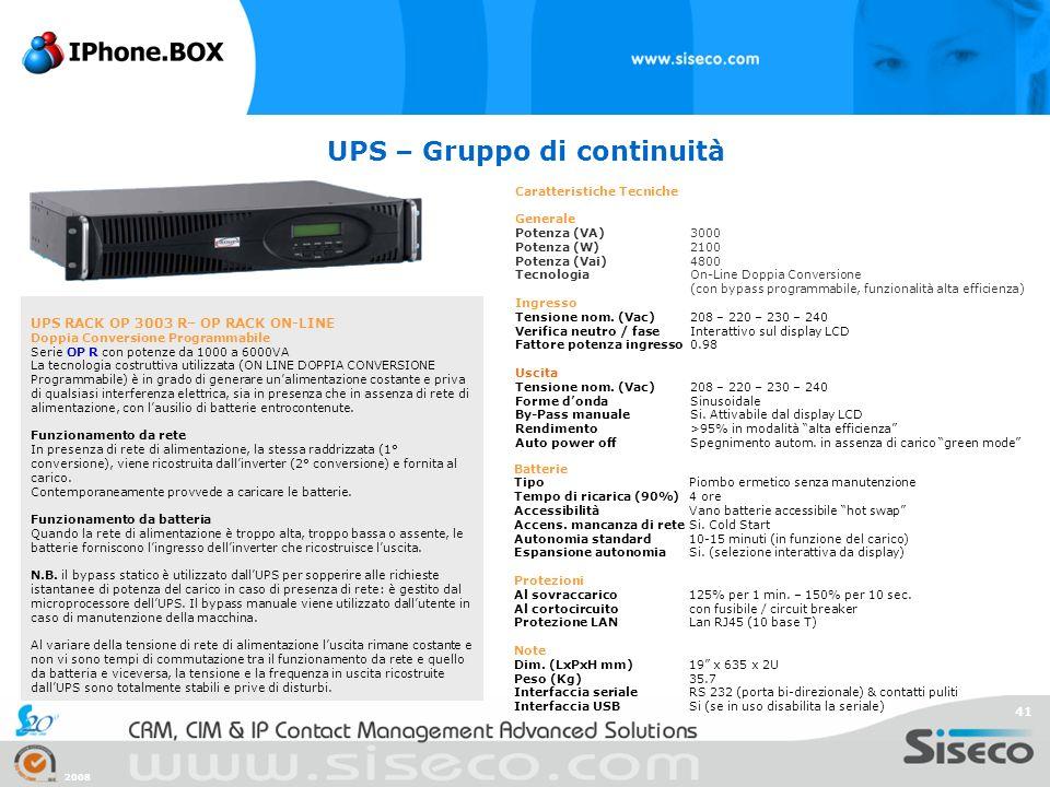 UPS – Gruppo di continuità