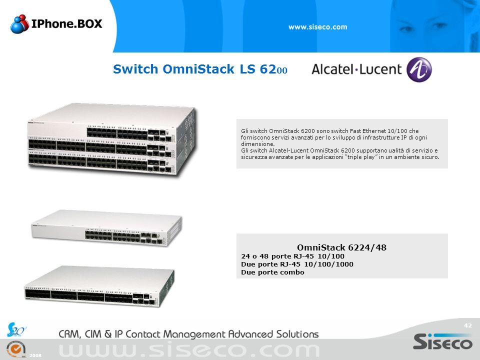 Switch OmniStack LS 6200 OmniStack 6224/48 24 o 48 porte RJ-45 10/100