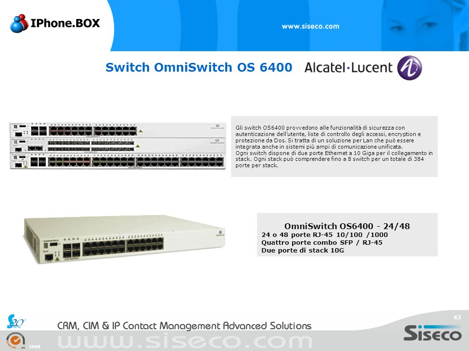 Switch OmniSwitch OS 6400 OmniSwitch OS6400 - 24/48
